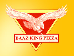 Baaz King Pizza Service Logo